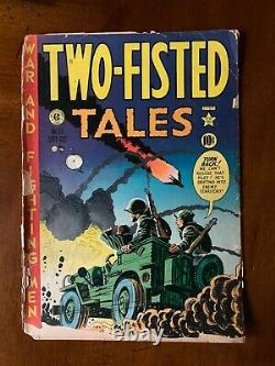 TWO-FISTED TALES (Fort Ord) EC SET. Five Comics. Brittle Pages