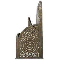 Tiffany Studios Desk Set Brown Bronze Patina Zodiac Paper Rack Two Cavities #100