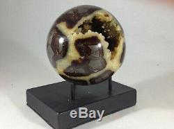Top Quality Set Of Two Hollow Septarian Nodule Sphere from Ut
