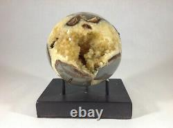 Top Quality Set Of Two Hollow Septarian Nodule Sphere from Utah