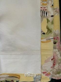Two Brunschwig & Fils Gillian Zebras Yellow Drapery Panels (set)