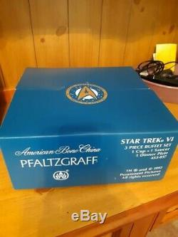Two Pfaltzgraff Star Trek 3 Piece Buffet Sets NIB USS Enterprise NCC-1701A SALE