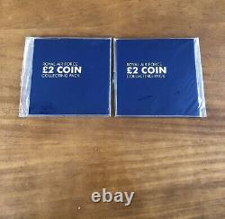 Two Sets Of 2018 Royal Air Force Raf Uncirculated £2 Collection Coin Sets