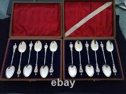 Two Sets Of Solid Silver 1899 Boar War Fund Raising Spoons
