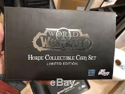 Two World of Warcraft Coin Sets (Alliance and Horde)