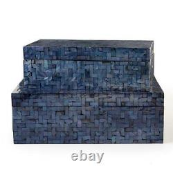 Two's Company Midnight Blue Set of 2 Boxes