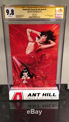 VAMPIRELLA ROSES FOR THE DEAD #1 two cover set CGC SS Mike Mayhew Remark/Sketch