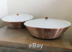 VTG Mid Century 1950's Set of Two Atomic Ceiling Light Fixtures Working