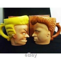 Viacom Beavis and Butt Head Mug Two Of Set Japan Import Unused Mug Cup Rare