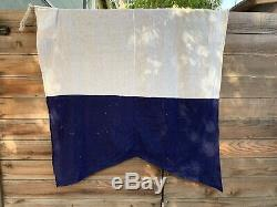 Vintage 1944 Military USA Naval Maritime Signal Flags World War Two Set Of 7