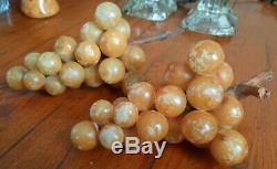 Vintage Alabaster Grapes Clusters SET OF TWO