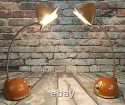 Vintage Hamilton Industries Eyeball Lamp Set of Two Retro Style 20 Table Lamps