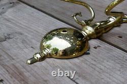 Vintage set of 4 two arm brass sconces