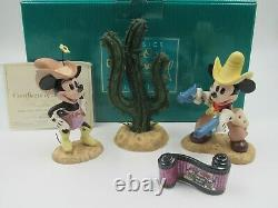 WDCC Two Gun Mickey Special Commission Colorized Set WDAC Convention Box COA
