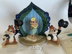 WDCC Walt Disneys Two Chips and a Miss 4 Piece Set comes with COA'S