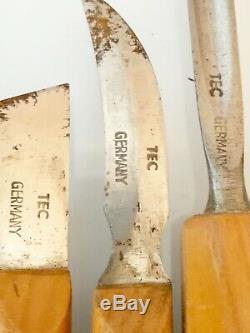 West Germany Two Cherries Chisels Wood Carving Tools Set of 15 Vintage