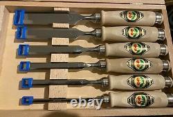 Wilh schmitt & Comp two cherries Firmer Chisel Set Hornbeam Handles 6-Piece