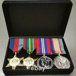 World War Two Set of 4 Replica Medals Full Size In Presentation Box