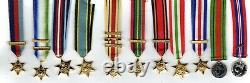 World War two Full Set (11) Miniature Dress Medals & Relevant Clasps