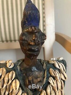 Yoruba Ibeji Figure Cowry Shell Vest Nigeria African Art set of two