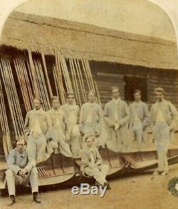 1858 Deux H / C Rare Albumen Des Photographies Des Équipages D'aviron Radley Et Eton À Henley