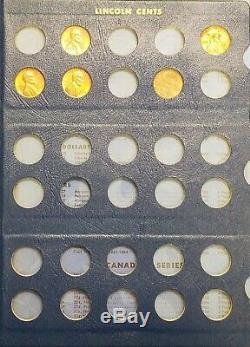 1909 1961 Blé Cent Lincoln Penny Collection / Set Près De Deux Albums Complets