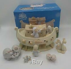 1992 Moments Precieux Deux Par Deux L'arche De Noé Histoire 8 Piece Set W Boîtes