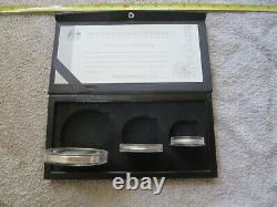 1995 Australian Kookaburra Collection Silver Proof Set 10, Deux Et Un Troy Ounce