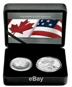 2019 2 X 1 Oz Argent Pride De Deux Nations Set Coin