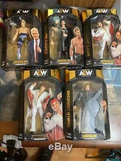 Aew Tous Wrestling Elite Collection Incomparable Ensemble De 5 Cody, Omega, Deux Jacksons