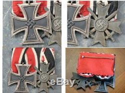 Allemand 1939 Seconde Guerre Mondiale Deux Pièces Médaille Barre Avec Bagues Originale Numerotée