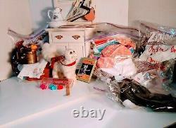 American Girl Collection 80 Articles Deux Poupées Meubles De Lit Ensembles De Vêtements Et Plus
