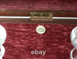 Asprey Londres Deux Bouteilles Ahogany Decanter Box Tantale C1900 Royal Brierley
