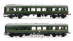 Bachmann'oo' Jauge 32-515a Br Green Derby Léger Deux Voiture Dmu Set