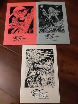 Bruce Convention Timm Sketchbook Set Dessins Volume One Two Three 1 2 3 Rare