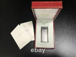 Cartier Argent Stylo À Bille, Deux Silver Set Briquets