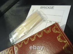 Cartier Bridge Set Deux Decks De Cartes Jouer Crayons Cased / Pad Score