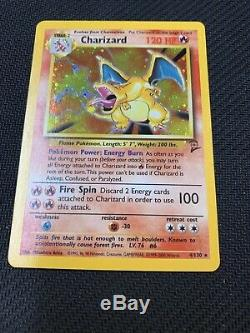 Charizard Holo De Base Deux / 2 Holo Rare Carte Pokemon Mint 4/130