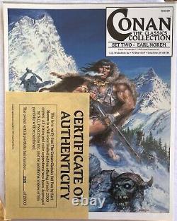 Conan The Classics Collection Set Two Earl Norem Portfolio 293 De 2000