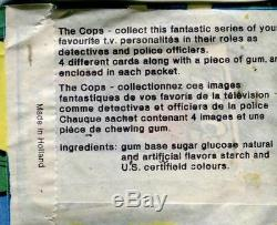 Cops Set Monty Gum (1976) Série 2 Deux Cartes Vintage Box