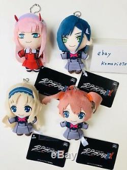 Darling Dans Le Franxx Peluche Porte-clefs 4 Ensemble Toy Zéro Deux Ichigo Miku L'anime Manga