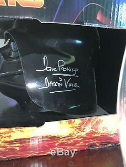 Darth Vader Signé Dave Prowse Deux Pièces Casque Set Star Wars Disney Autographié