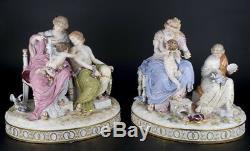 Décor Art Allemagne Meissen Ensemble De Deux Sculptures Guilty Cupidon
