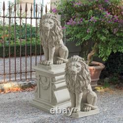 Design Toscano Mansfield Manor Lion Sentinel Statue Ensemble De Deux
