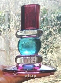 Deux (2) Set De Chandeliers En Verre Chatham Multicolore Belle