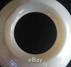 Deux Art Glass Shade Set Probablement Unsigned Steuben Calcite Cuir Comme Ext