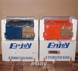 = Deux Non-batis = Transistor Cru Portable Récepteur Radio Am Rare 1970 Kit Set