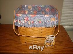 Deux-pie Grand-mère Bonnie 1998 Longaberger Panier Set Brulait Dans Signature Nouveau