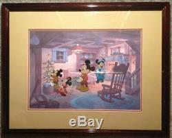 Disney Art Cel De Correspondante Carol Scrooge Deux Noël De Mickey Set