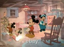 Disney Art Cel's Matched Set Mickey's Christmas Carol Scrooge Deux